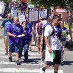 Photo of SEIU members entering park