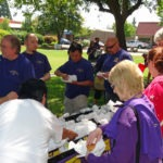 Photo of SEIU members having lunch