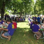 Photo of SEIU members picnicking