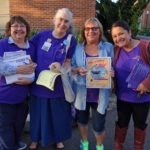 "Happy ""Greeters"" - Avis Traver, Dorothy A, Cindy Gruner, and Norma"