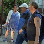 Heading to Work:  Rebecca Lynn with Bill Alvarez & Doug Shaw