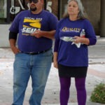 Two members at the rally