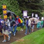 Marching around Johnson Hall
