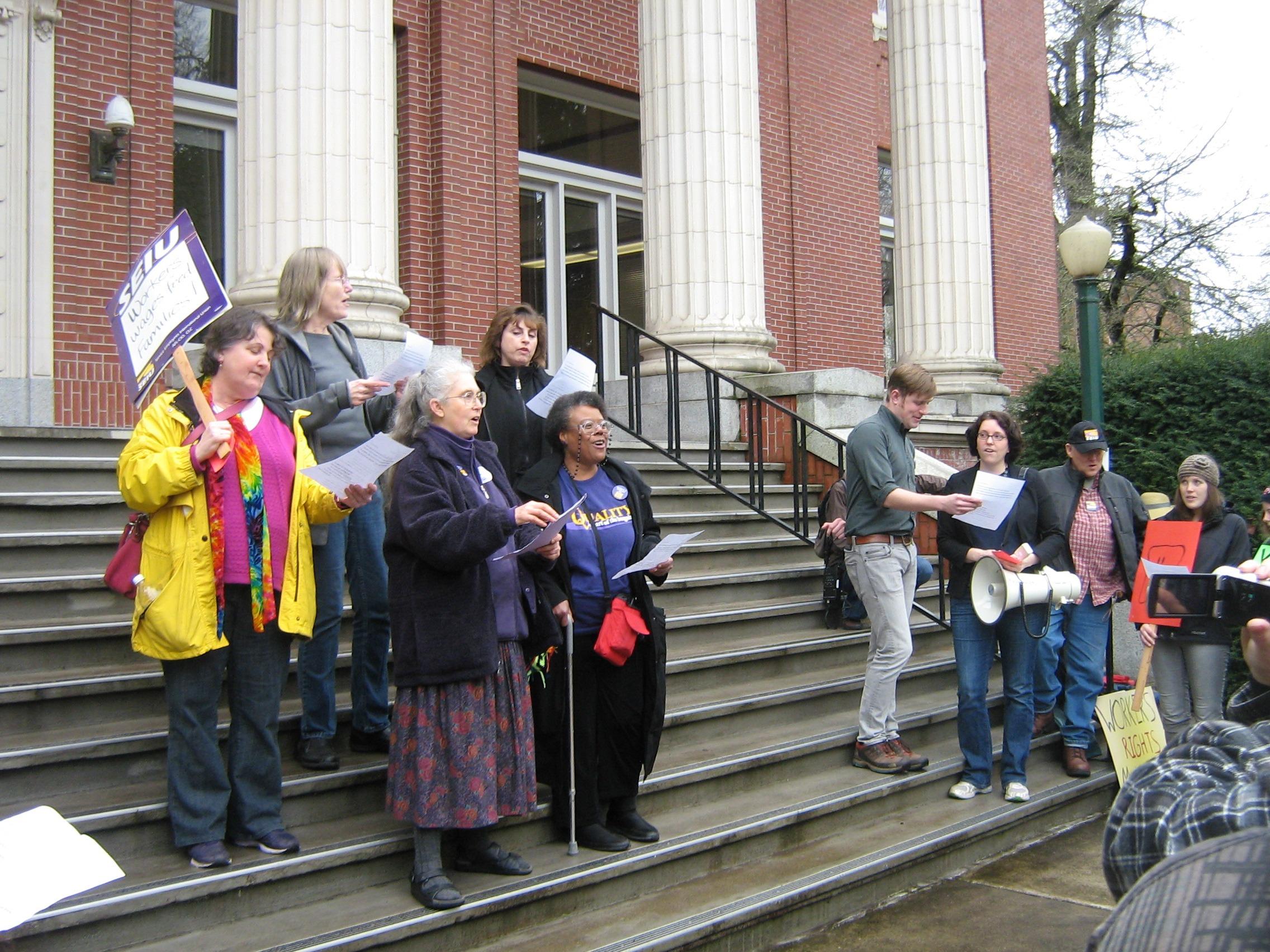 Campus Labor Choir and friends