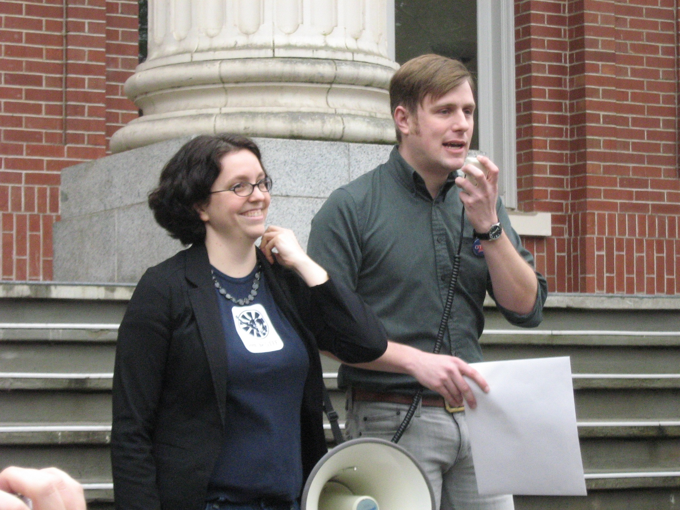 Amber Cooper, David Craig (GTF, Philosophy, GTFF President)