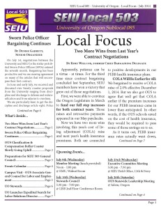 July 2014 UO Local Focus
