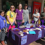 Bake sale photo 2: SEIU members pose with treats ready for sale